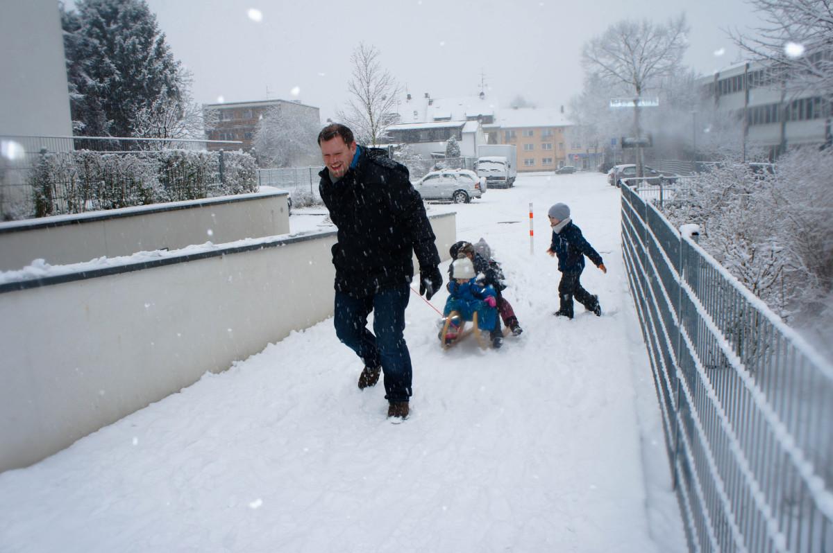 Raus in den Schnee